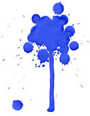 Blue blot tree — Stock Photo