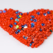 Red beads heart — Stock Photo #1495141