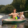 Couple of kayakers — Stock Photo #1496141