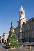 アレキパ、ペルーのクリスマス ツリー — ストック写真