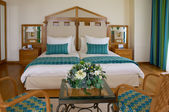 Double room in hotel — Stockfoto