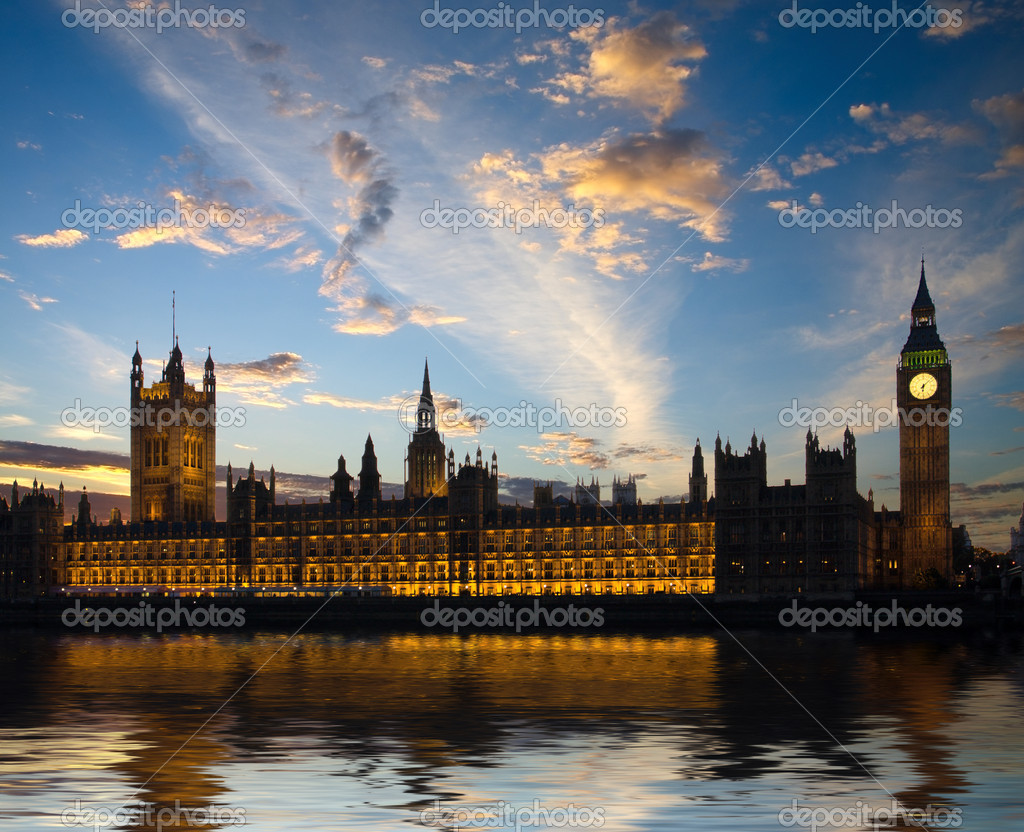 House of Parliament in London, United Kingdom — Stock fotografie #1496159