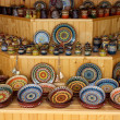 Ceramic handmade crockery and dishes — Stok fotoğraf