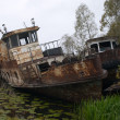 Blasted rusty boat - Stock Photo