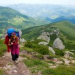 Stock Photo: Mountaineer girl