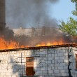 House in fire — Stockfoto