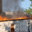 Stock Photo: House in fire