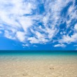 Stock Photo: Clouds and sea