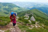 Mountaineer girl — Stock Photo