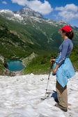 Lake in Caucasus mountains — Stock Photo
