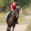Womriding horseback — Stock Photo #1521321