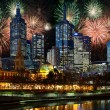 Fireworks over Melbourne city — Stock Photo #1526104