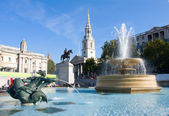 Trafalgar Square in London — Stockfoto