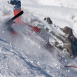 Ski fall — Stock Photo