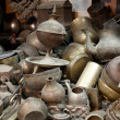 Antique shop with old metal things — Stock Photo
