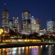 Night view on Melbourne CBD — Stock Photo