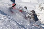 Caída de esquí — Foto de Stock