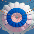 Stock Photo: Bright parachute canopy