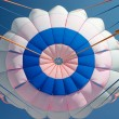 Bright parachute canopy — Stock Photo