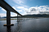 Bridge over fiord — Stock Photo