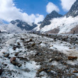 Glacier with rocks — Foto Stock