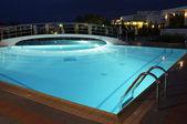 Night swimming pool — Stock Photo