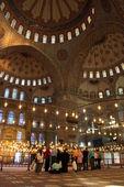 Turisti in moschea blu — Foto Stock