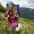 Backpacker girl - Stock Photo