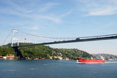 Bridge over Bosporus strait — Stock Photo
