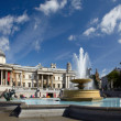 Stock Photo: National Gallery and Trafalgar square