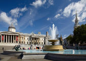National Gallery and Trafalgar square — Stock Photo