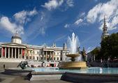 National Gallery and Trafalgar square — Stock Photo