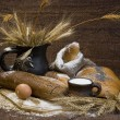Stock Photo: Still life with bread food