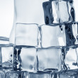 Frozen transparent  ice cubes close-up — Stock Photo