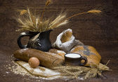 Still life with bread food — Stock Photo