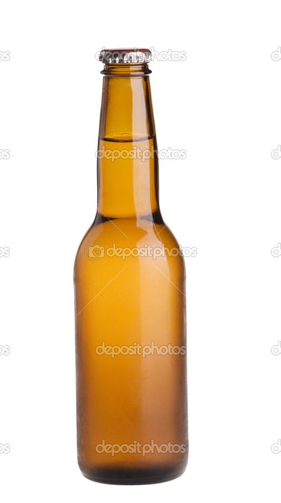 Alcohol light beer closed  bottle isolated on a white background — Stock Photo #1587251