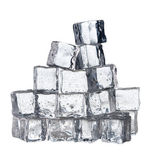 Frozen crystal ice cubes isolated — Stock Photo