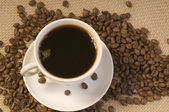 Black coffee drink — Stock Photo