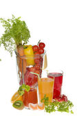 Fruit and vegetable juices — Stock Photo