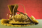 Still life with italian pasta — Stock Photo