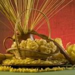 Still life with italian pasta — Stock Photo