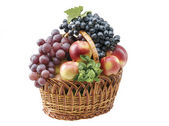Fruit food objects in a basket — Stock Photo