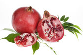 Fresh pomegranat isolated over white — Stock Photo