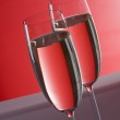 Two wineglasses of champagne — Stock Photo #1844819