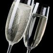 Two wineglasses of champagne — Stock Photo #1844823