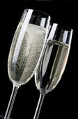 Two wineglasses of champagne — Stock Photo
