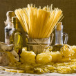 Still life with italian pasta — Foto Stock