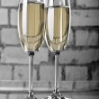 Two wineglasses of champagne — Stock Photo #1980236