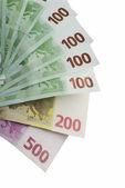 Euro money on a white background. — Stock Photo