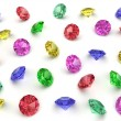 Several multi-coloured gemstones - Stock Photo